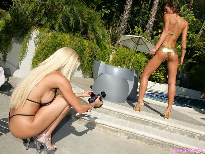 Gina Lynn Strikes A Pose With Her Latina Friend Naomi