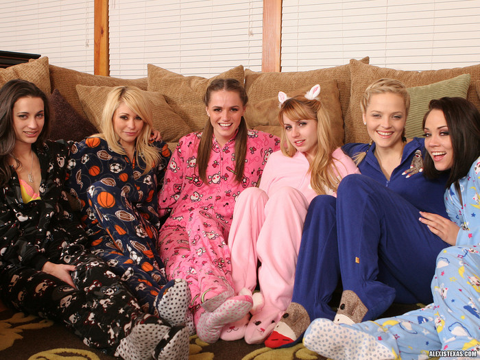 Alexis Texas's All-Girl Group Sex Slumber Party