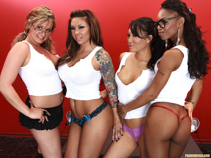 Tory Lane with Asa Akira, Marie Luv, and Mason Moore