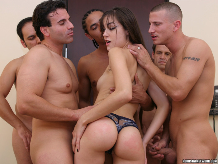Perky Brunette Sasha Grey Gets Her Face Blasted In Cum