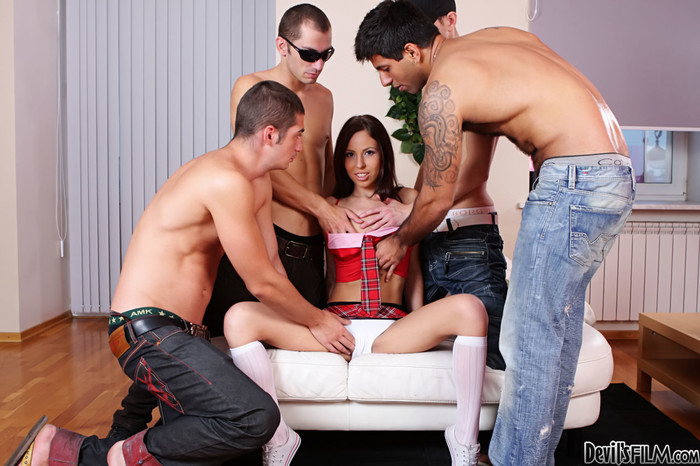 Abbey B, Carlos Bazuca - University Gang Bang #03