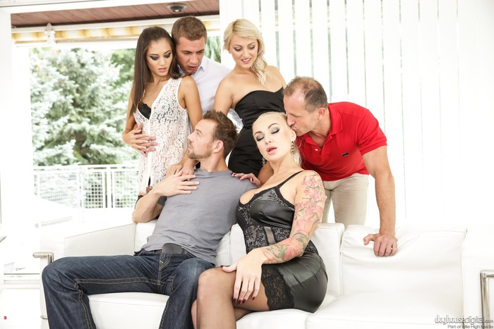 Kayla Green, Katy Rose, Shrima Malati - Swingers Orgies #11