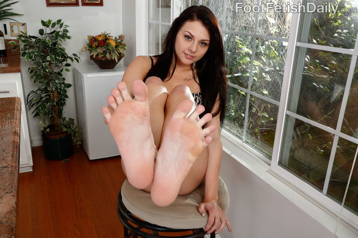 Megan Sage Pretty Feet Around Hard Cock