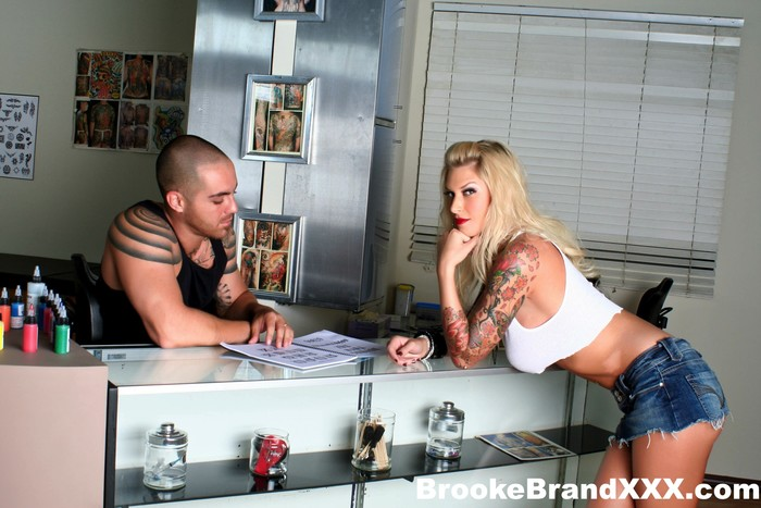 Watch Big Boobed Brooke Get Fucked All Over The Tattoo Shop