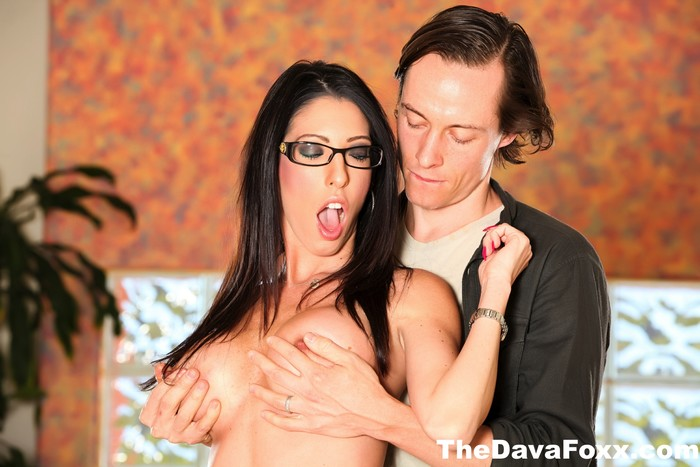 Busty Brunette Dava Foxx takes on a big dick from Owen