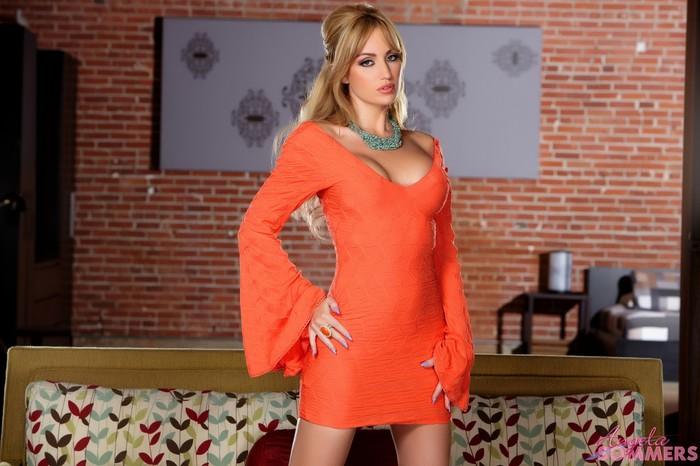 Angela Sommers - Orange Dress Strip & Spread