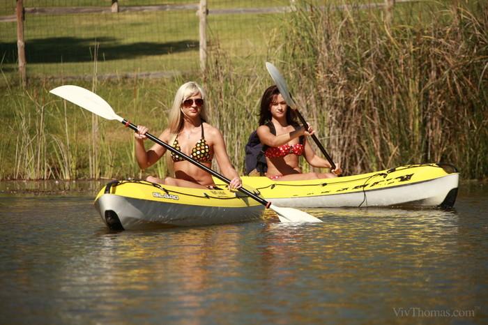 Tess A, Tracy Lindsay - Canoe Adventure - Viv Thomas