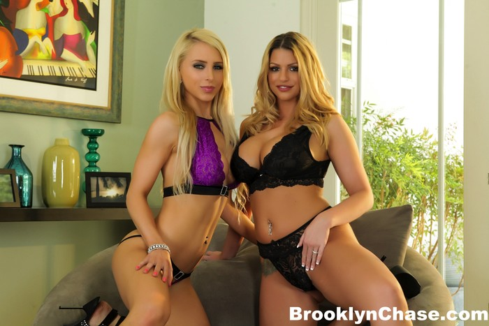 Blonde hotties Brooklyn and Alix get it on - Brooklyn Chase