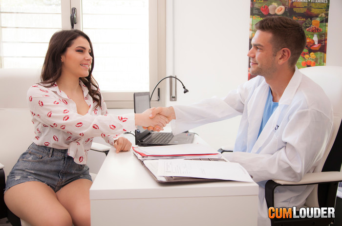 Valentina Nappi seduces Doctor Boobs - CumLouder