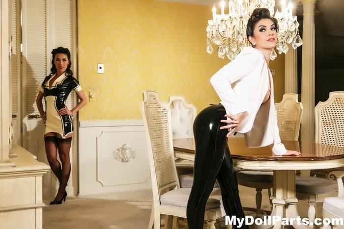 House of latex with Kayla Jane Danger and Kalina Ryu