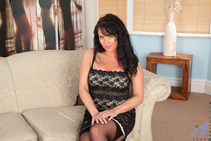 Leah - Black Stockings - Anilos