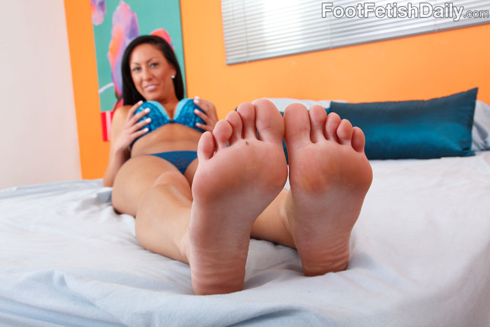 Tiffany Brookes Wraps Her Feet Around a Hard Cock