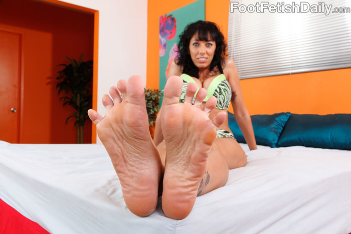 Alia Janine Wraps Her Pretty Feet Around a Hard Cock