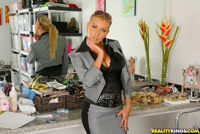 Niki Blond - The Back Room - Big Tits Boss