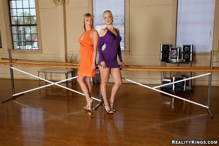 Kimberly Kane & Adrianna Nicole - No Pants Dance - CFNM