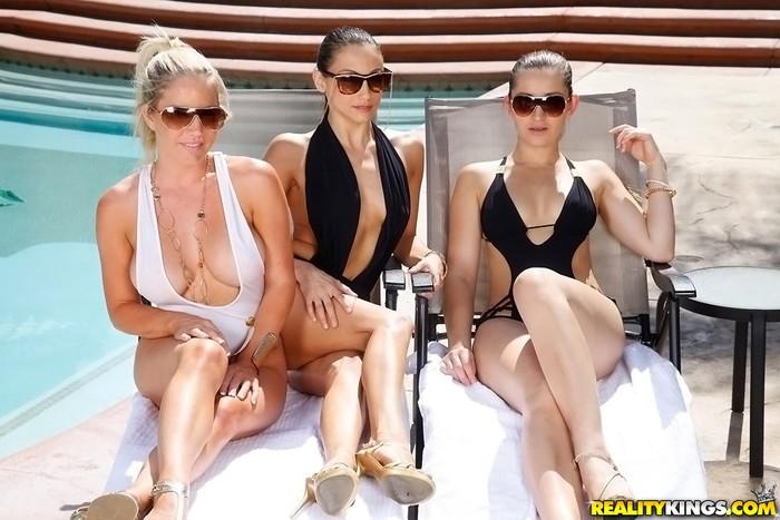 Ainsley Addison, Celeste Star, Dani Daniels - Pool Time