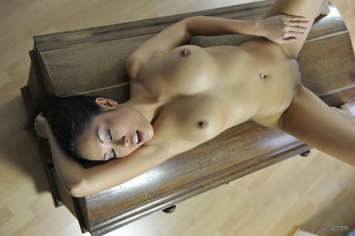 Danika - tight body asian showing her body